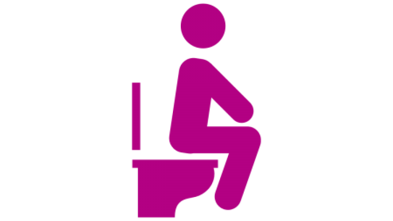 Individual on Toilet