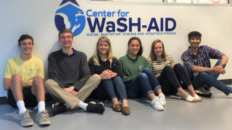 Bass Connections Students at the Center for WaSH-AID