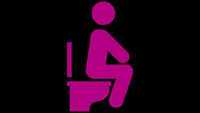 Individual on Toilet